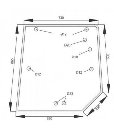 GLACE DE HAYON ARRIERE ADAPTABLE MASSEY FERGUSON 3902141M1
