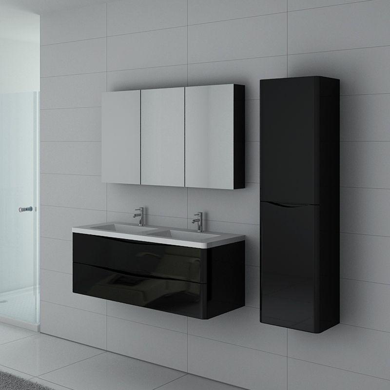 meuble de salle de bain trevise 1200 noir