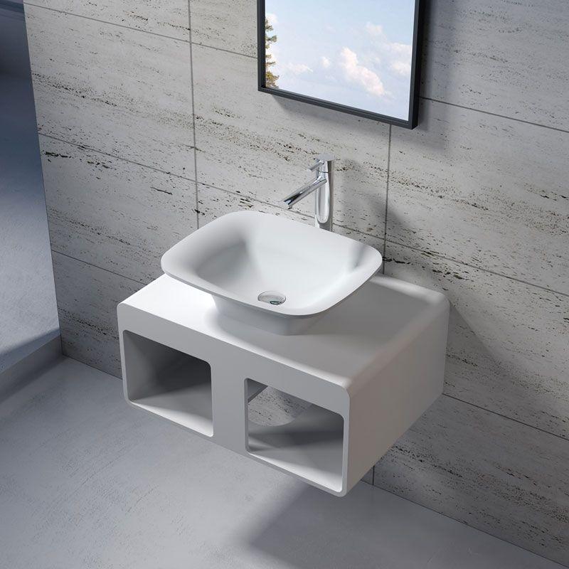 Plan De Toilette Suspendu Et Vasque Sdk54 Sdv33 Plan De Toilette Suspendu 68x48 Cm