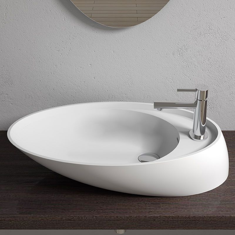 Vasque Blanche Design En Solid Surface Vasque Blanche Design A Poser Sdv38