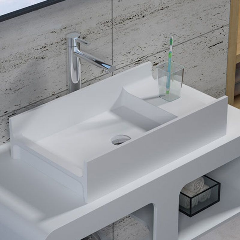 Vasque Blanche Rectangulaire A Poser Vasque Blanche Rectangulaire En Solid Surface