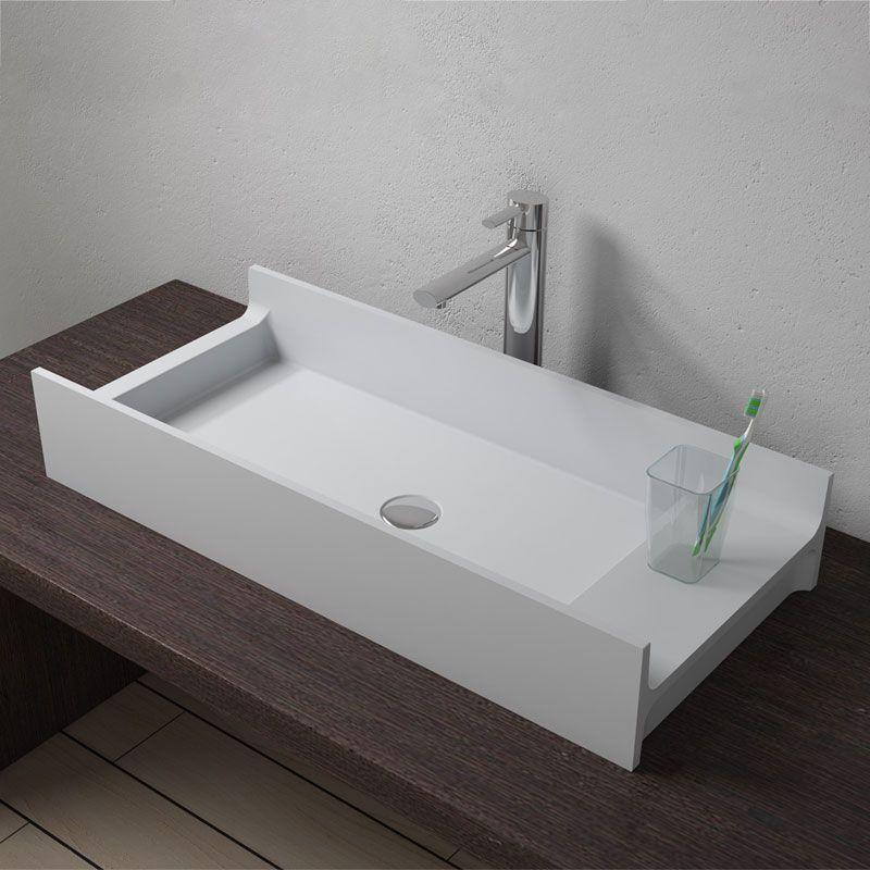 Grande Vasque Rectangulaire A Poser En Solid Surface Grande Vasque A Poser Sdv72