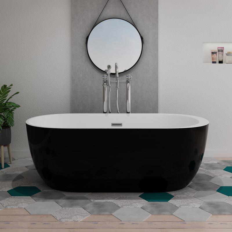 baignoire ilot reno black
