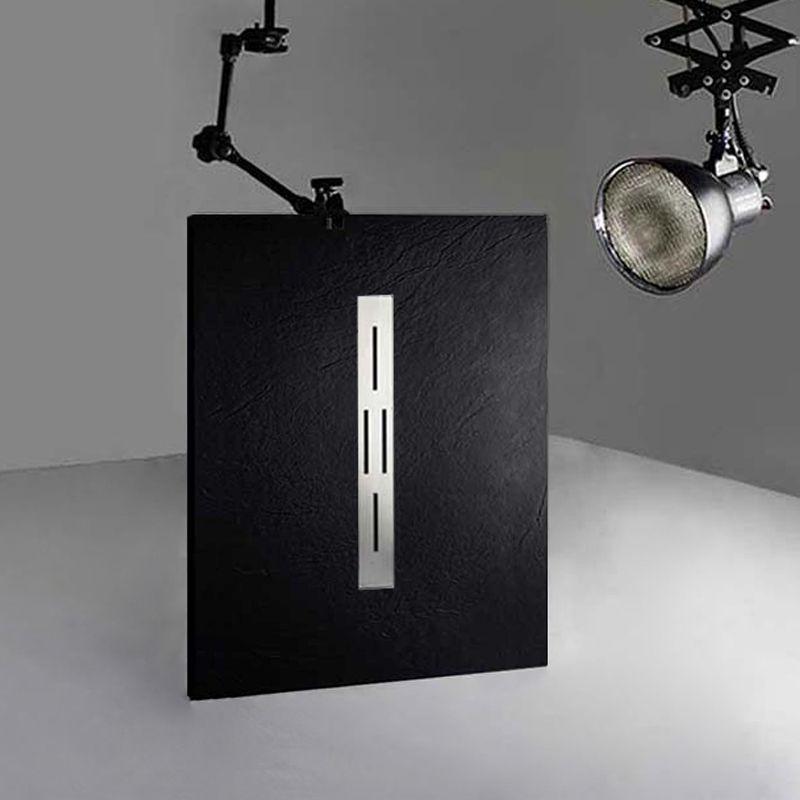 receveur de douche en gel coat ardesia noir 120x90cm