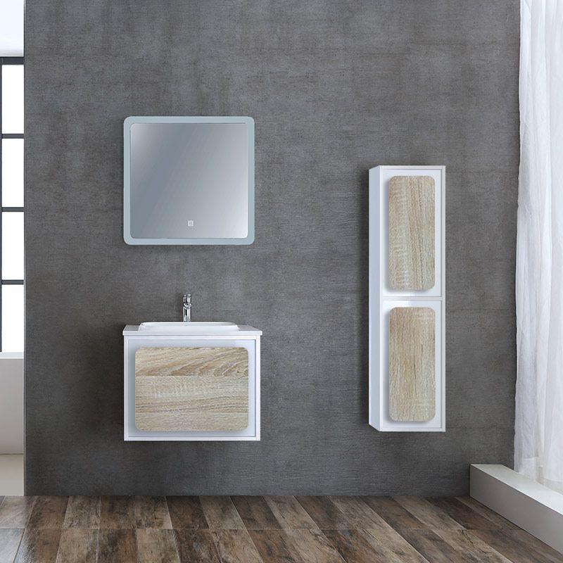 meuble de salle de bain rovigo 600 scandinave et blanc