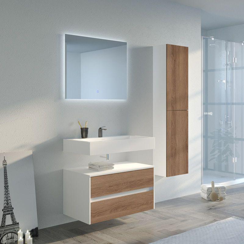 Meuble De Salle De Bain Scandinave Blanc Design Et Tres Pratique