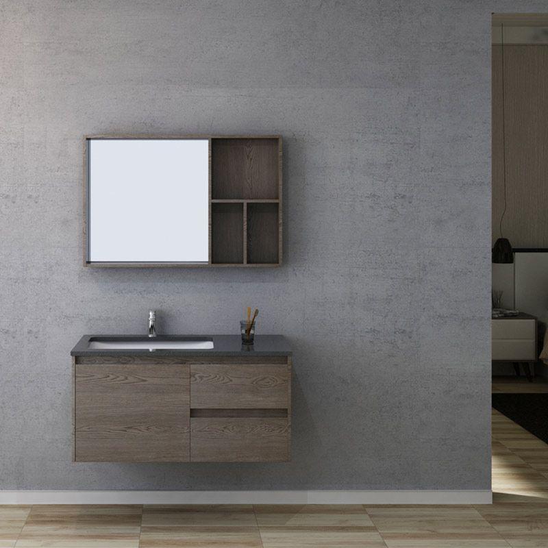 meuble salle de bain bergame 1000 chene gris