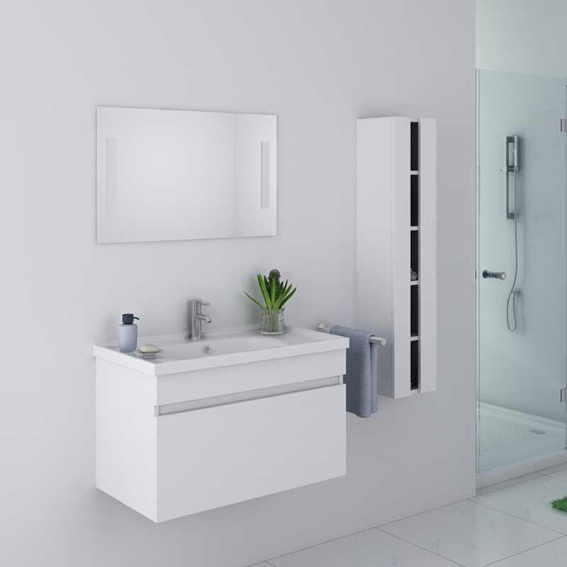 Meuble De Salle De Bain Simple Vasque 80 Cm Meuble Simple Vasque Dis800ab