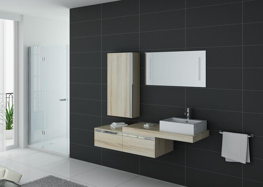 Meuble de salle de bain suspendu simple vasque meuble simple vasque design scandinave  Distribain