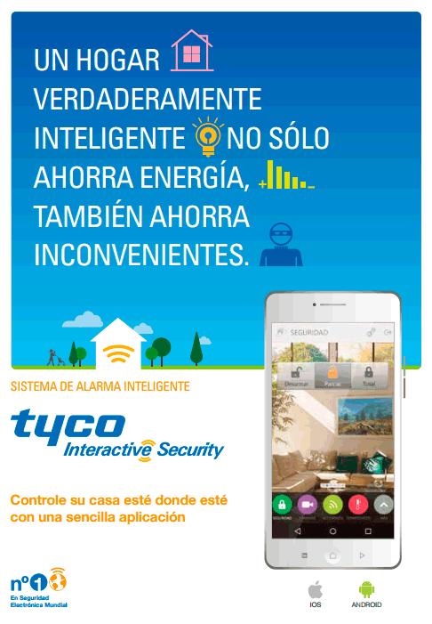 aplicacion movil android y ios alarmas para casa hogar tyco