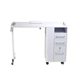 table a manucure compacte et pliable avec tiroirs de rangement