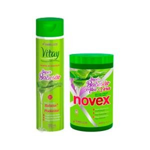 Novex Super Babosa Shampoo 300ml Y Tratamiento 400gr