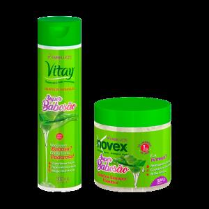 Novex Super Babosa Kit Shampoo 300ml y Gelatina 500gr