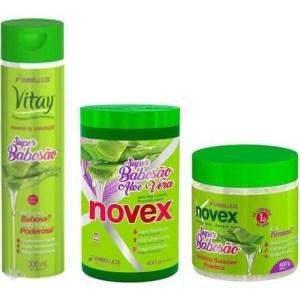 Novex Super Babosa Kit Shampoo 300ml, Gelatina 500gr y Tratamiento 400gr
