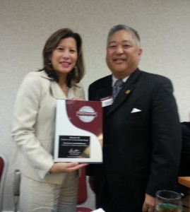 Chief Justice Tani Cantil-Sakauye, District Governor Brian Hatano, DTM