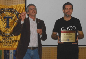 DTM ceremony for Rui Henriques - award handed over by Luis Caetano current D59 LGM