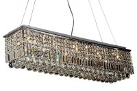 Evrosvet - 10-Light Crystal Quantum Rectangular Chandelier ...