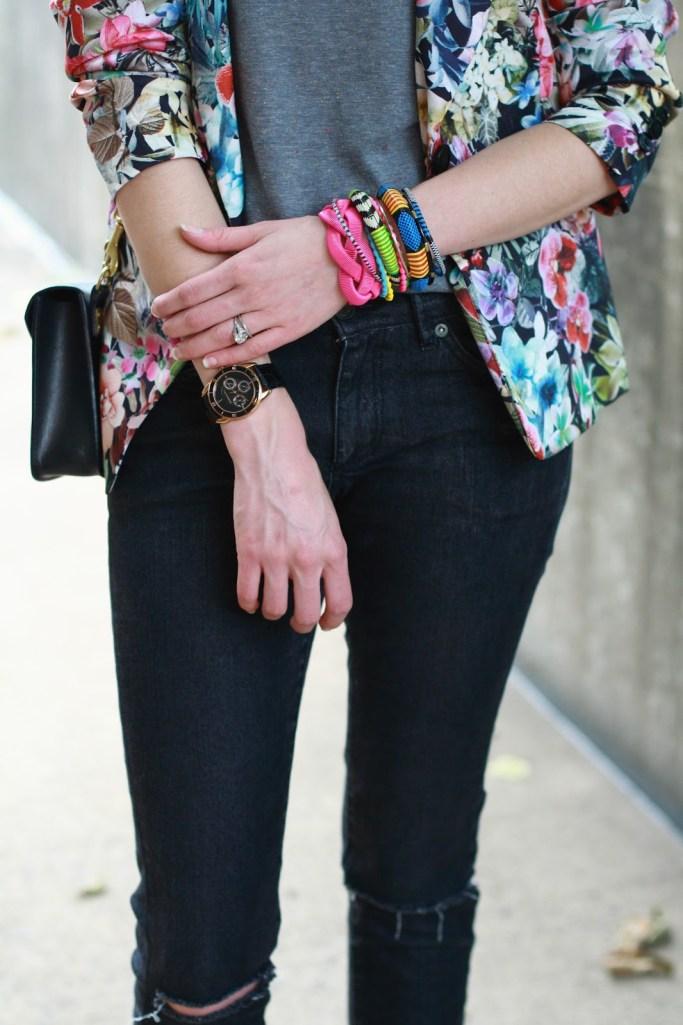 bright woven bracelets