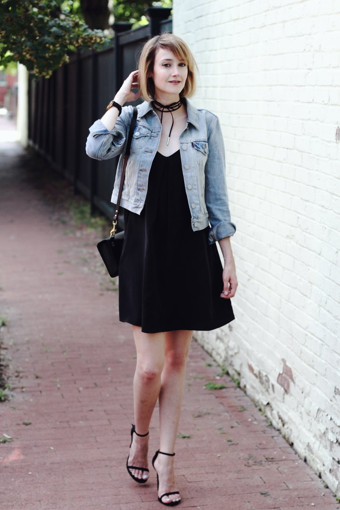 Levi's jacket and Joie dress