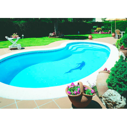 piscine coque polyester haricot graf 95