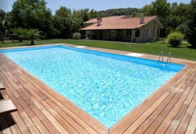 Redimensionne X Photo Liner Piscine Bleu Clair