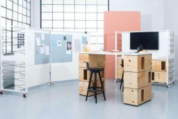 workplace3.0 Colección componible modular Pixel de Bene, una de las sensaciones de esta muestra