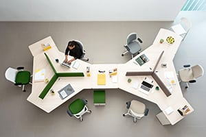 Mesas Twist de Actiu: tecnología integrada