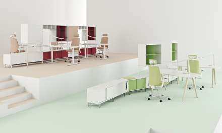 Mobiliario Space de Kinnarps, la oficina de mañana