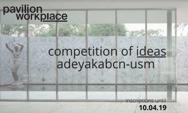Nuevo concurso de diseño de oficinas Pavilion Workplace organizado por Adeyaka BCN y  USM