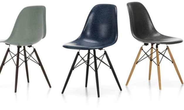 Fiberglass Side Chairs de Eames, reproducidas por Vitra