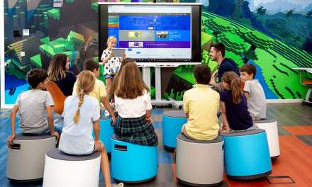 Microsoft EduLab  realizado por 3g Office: prototipo de aula educativa del futuro