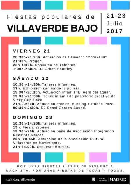 Programa de Fiestas de Villaverde Bajo