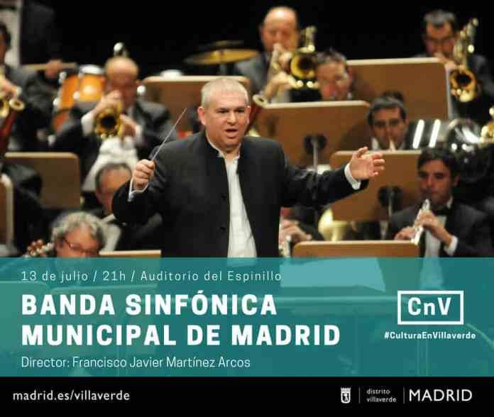 Concierto de la Banda Sinfónica Municipal en Villaverde