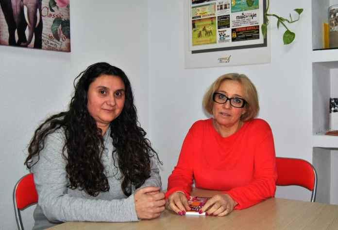 Alicia Pintor y Leticia Fierros, presidenta y vocal respectivamente de la delegación de Villaverde de la FAPA Giner de los Ríos
