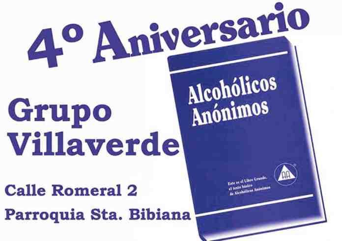 4º aniversario del grupo de Alcohólicos Anónimos de Villaverde