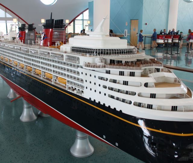 Model Of The Disney Wonder On Display At Port Canaveral