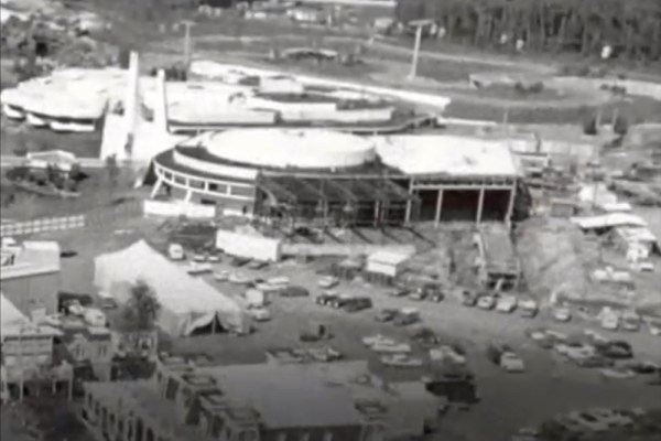 Construction of Tomorrowland at Magic Kingdom