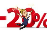 Fødselsdag og 20 % på alt!