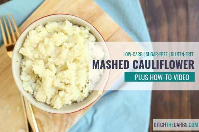 Learn how to make the easiest recipe on the internet for mashed cauliflower like a pro - without it going soggy or smelly. Her tips are brilliant! #keto #lowcarb #ditchthecarbs #howtomakemashedcauliflower #ketocauliflower #lowcarbcauliflower #easyketorecipes #healthyfamilydinner