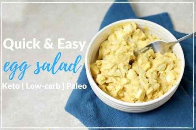 Quick and easy recipe for low-carb egg salad. Paleo, grain free and gluten free. | ditchthecarbs.com