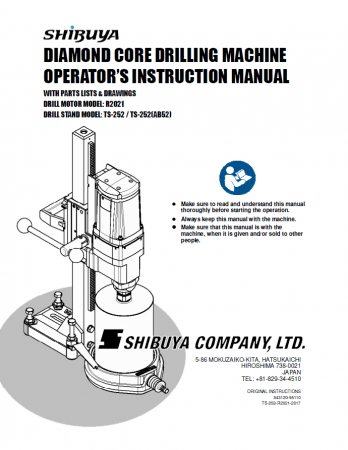 Shibuya TS-252 Pro R-2021 Parts List pdf file