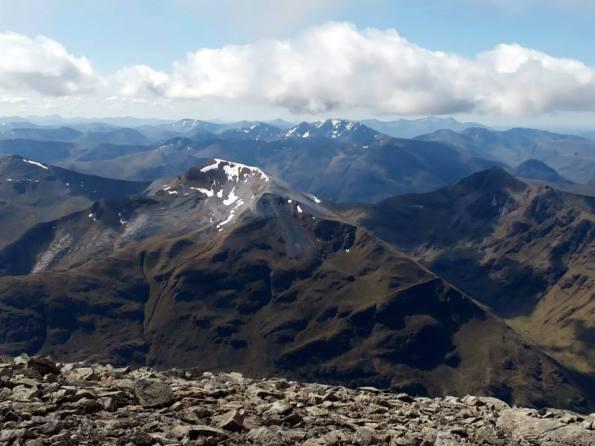 Prachtig panorama op de top!