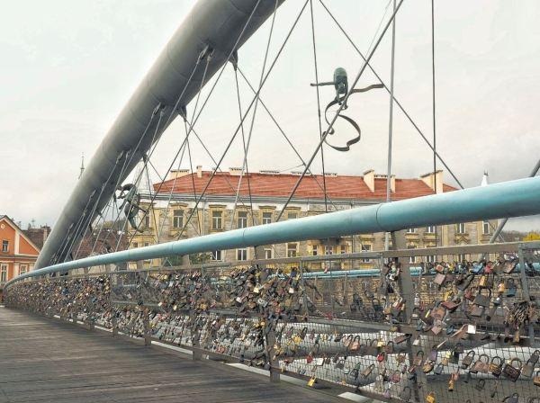 Krakau slotjesbrug Kazimierz