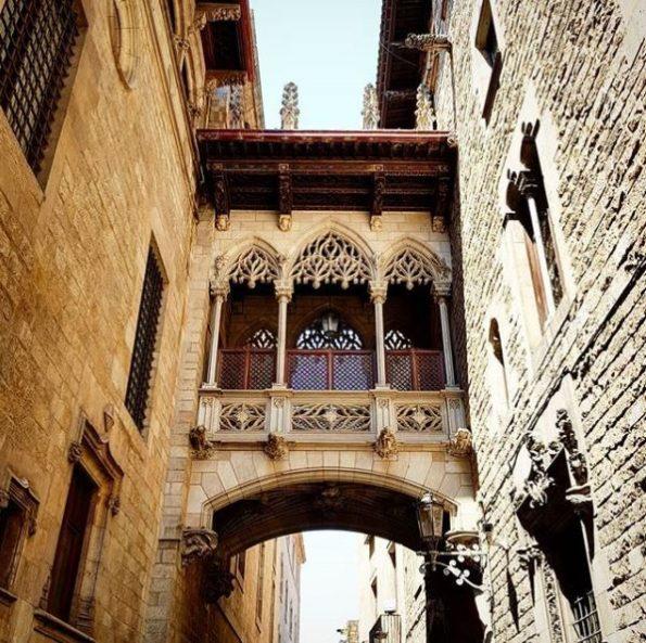 Barcelona Barri Gotic brug