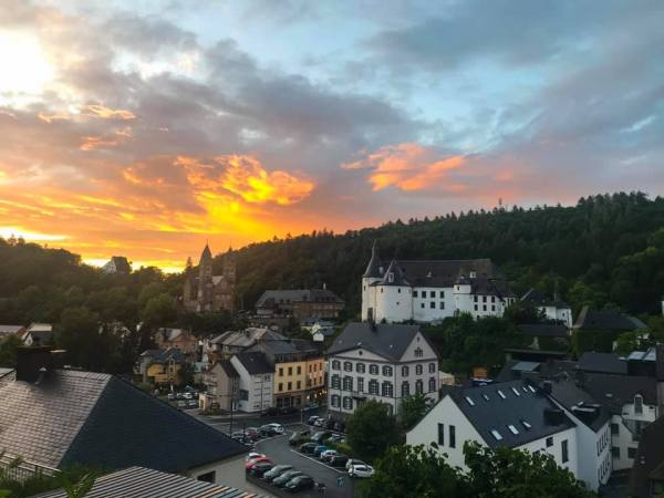 Clervaux zonsondergang