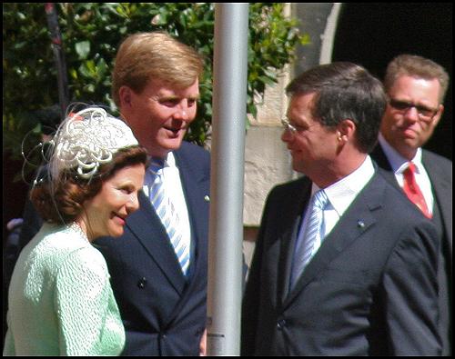 Zweeds koningshuis bezoekt Binnenhof