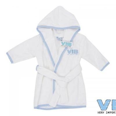 badjas wit + blauw