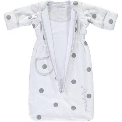 Bag newborn white dottie