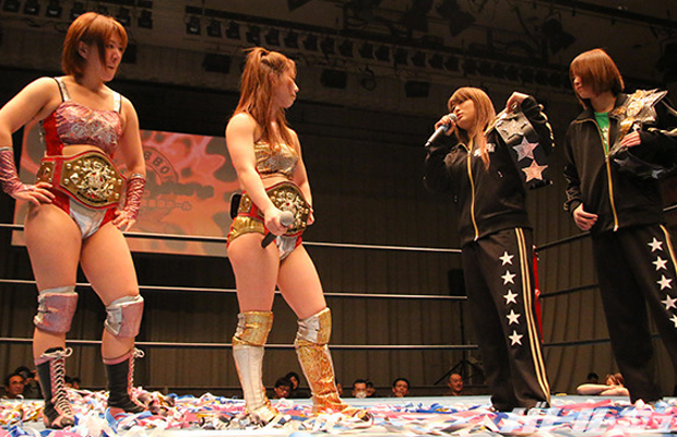 Best Friends vs. Io Shirai and Mayu Iwatani