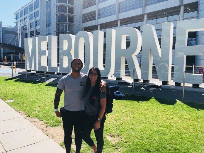 Tessa Blanchard and Trevor Mann (Ricochet) in Melbourne, Australia